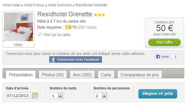 J'ai mis le Résid Hotel Grenette en exemple parce que j'ai déjà séjourné la-bas et je l'aime beaucoup beaucoup :)