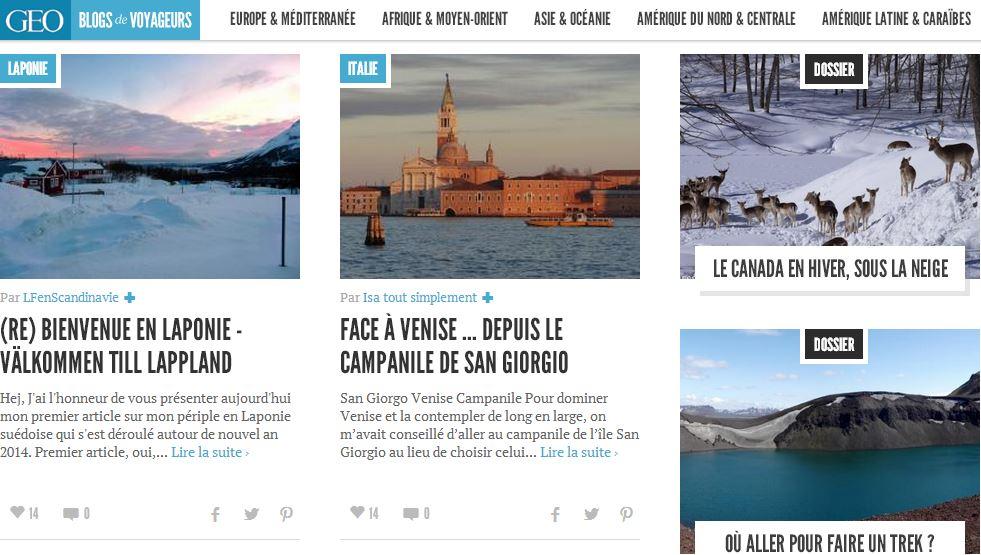 blogs voyage géo