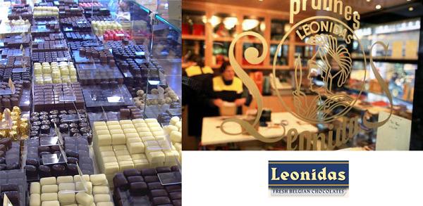 chocolats belges léonidas