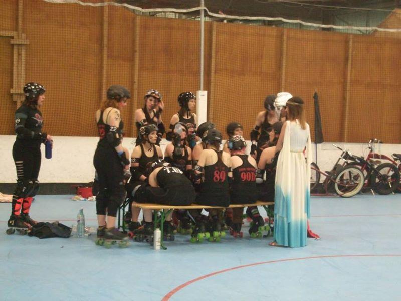 L'équipe de roller derby Lille en pleine préparation