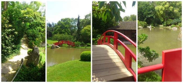 jardin japonais et pont rouge