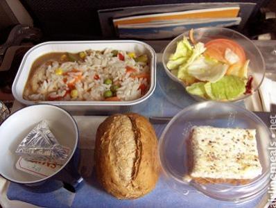 Exemple plateau repas classe éco
