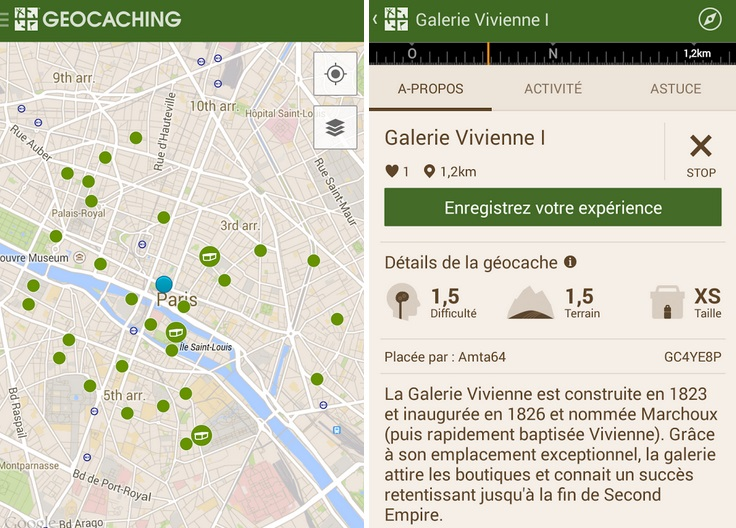 geocaching paris
