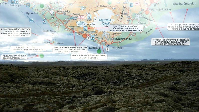 lieux hantés islande carte