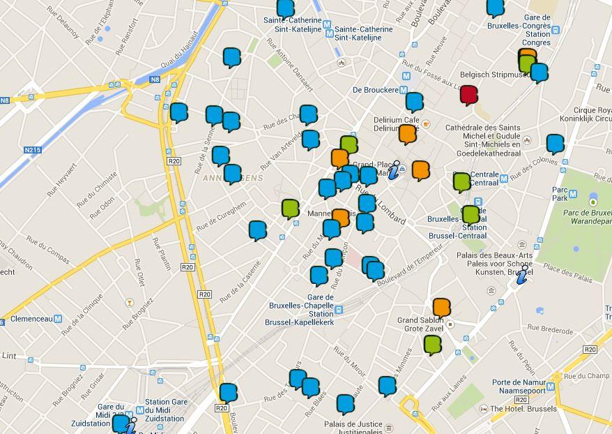Cliquez : Le plan Parcours BD Bruxelles en ligne