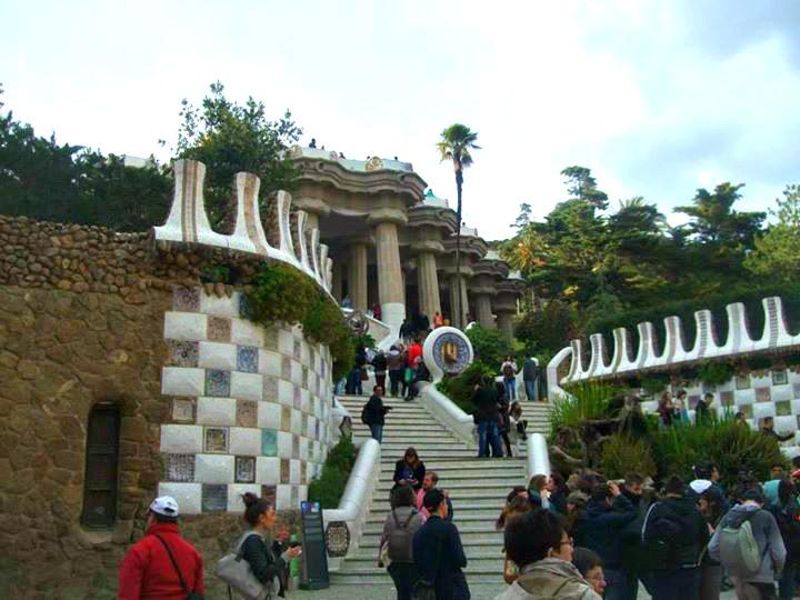 L'entrée du parc Guell