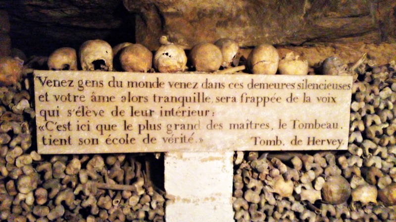 citations catacombes paris