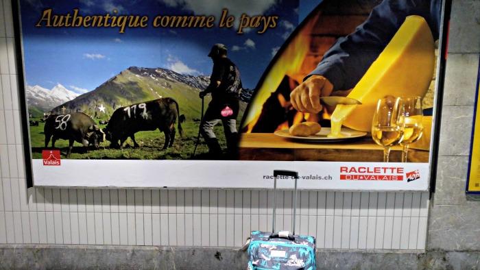 Sur le départ en gare de Lausanne !