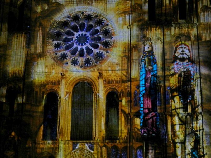 cathédrale chartres en lumière