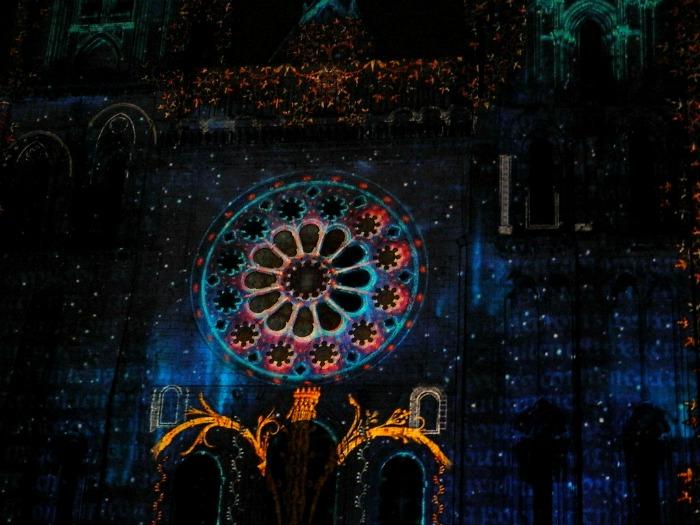 parcours visite chartres en lumières