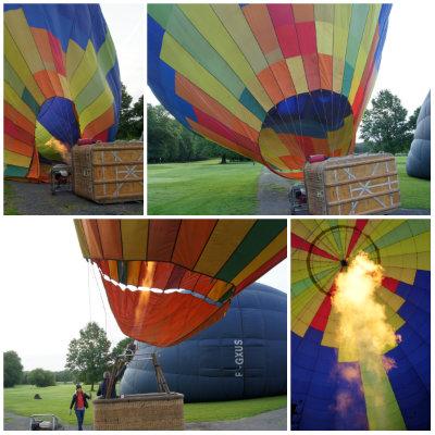 premier vol en montgolfière