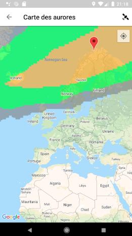 application aurores boréales islande